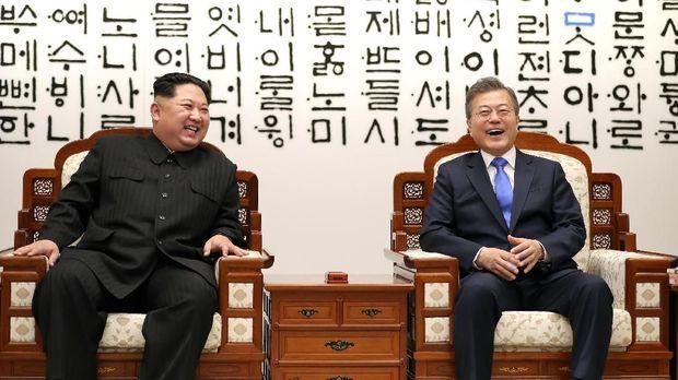 Pertemuan Kim Jong-un dan Presiden Korsel Moon Jae-in