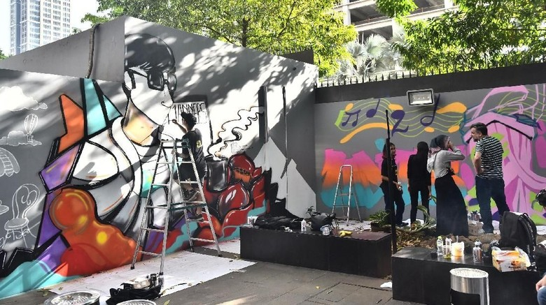 Seniman Urban Prancis dan Indonesia Berkolaborasi di If I Mouv  Foto: IFI Jakarta