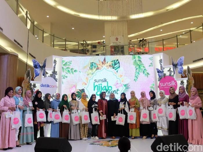 Peserta Sunsilk Hijab Hunt 2018 Palembang yang lolos ke tahap 2. Foto: Anggi Mayasari/Wolipop