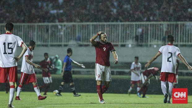 Timnas Indonesia kalah 0-1 dari Bahrain.
