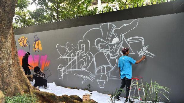Seniman Urban Prancis dan Indonesia Berkolaborasi di 'If I Mouv'