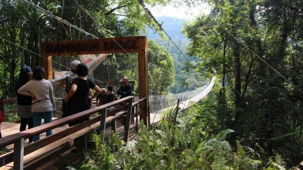 Jembatan Gantung di Sukabumi yang Lagi Hits