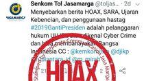 Akun Senkom Cuit soal #2019GantiPresiden, Jasa Marga: Hoax!