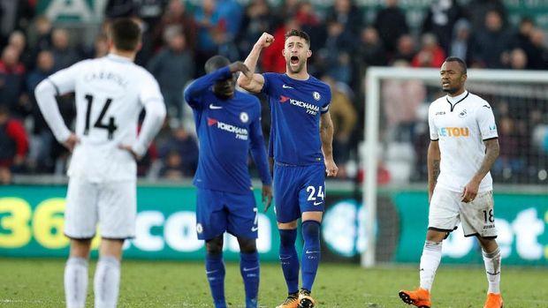 Chelsea meraih tiga kemenangan beruntun di Liga Primer Inggris yang mengamankan posisi di peringkat kelima.