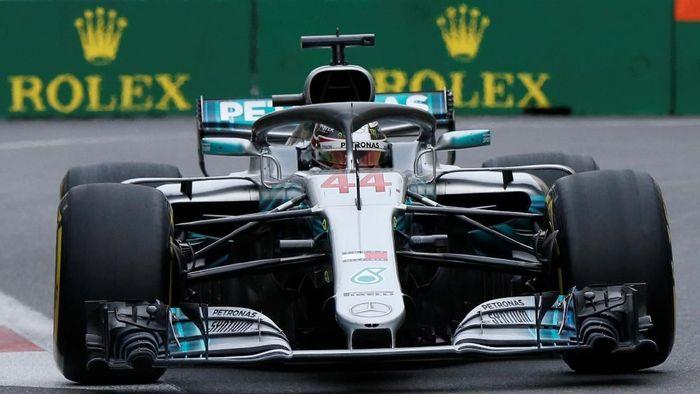 Lewis Hamilton menangi GP Azerbaijan 2018 (David Mdzinarishvili/REUTERS)