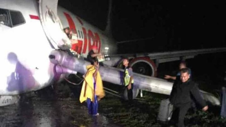 Kronologi Pesawat Lion Air Tergelincir di Gorontalo
