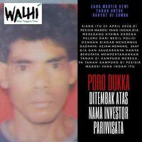 Gambar yang di-posting WALHI soal warga Sumba Barat, NTT, yang tewas karena kerusuhan berlatar belakang konflik agraria