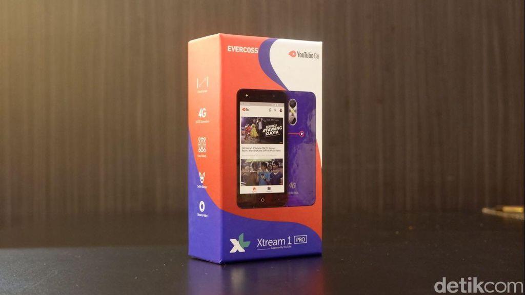 Xtream 1 Pro menjadi ponsel ketiga buah kolaborasi Evercoss dengan operator XL Axiata. (Foto: detikINET/Adi Fida Rahman)