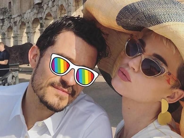 Foto: Katy Perry dan Orlando Bloom (dok. Instagram)