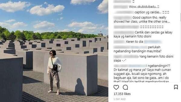 Berpose di Holocaust Monumen, Eva Celia Justru Dipuji Netizen