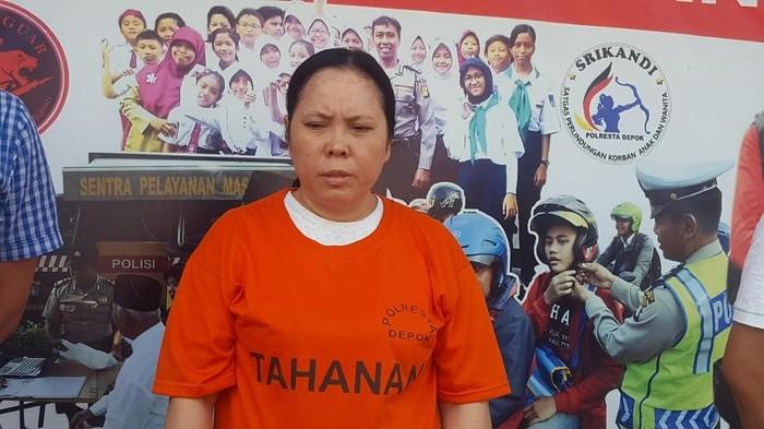 Jumiyanti, tersangka kasus penculikan bayi di Depok. (Zunita Amalia Putri/detikcom)