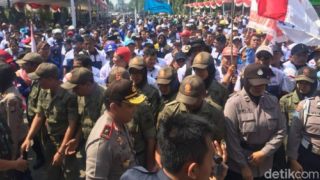 Foto: Aksi May Day 2018 di Cilegon/M Iqbal