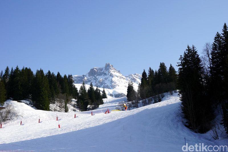 Alpen merupakan pegunungan paling tersohor di Eropa. Pegunungan ini melintasi 8 negara sekaligus. (Wahyu/detikTravel)