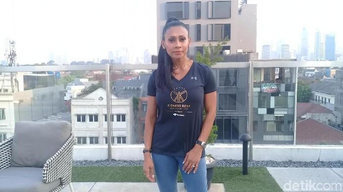 Laila White, pakar kebugaran asal Singapura berusia 51 tahun. Foto: Frieda Isyana Putri