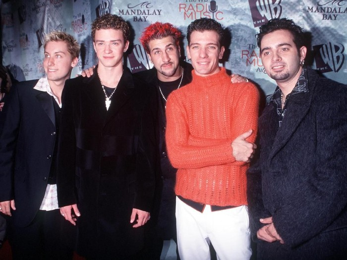 10/28/99 Las Vegas, NV. NSync at The WB Radio Music Awards, held at the Mandalay Bay Resort & Casino. From l-r: Lance, Justin, Joey, JC and Chris. Photo by Brenda Chase Online USA, Inc.
