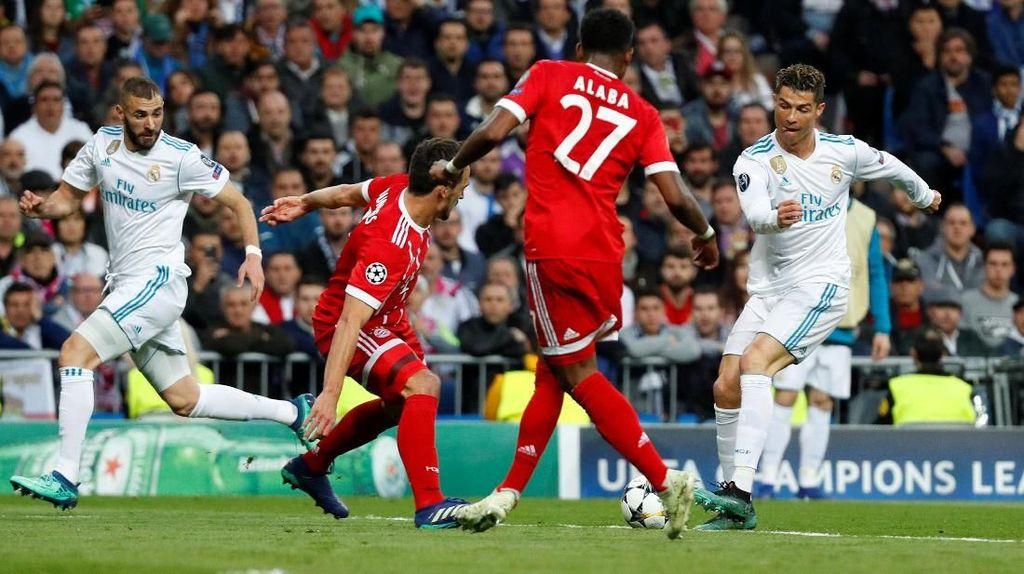 Babak I Selesai, Real Madrid Vs Bayern Sementara 1-1