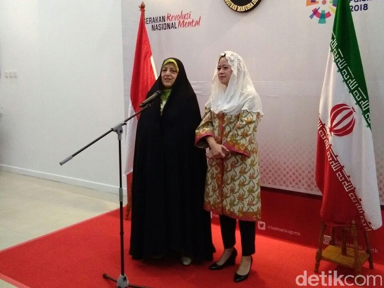 Wapres Iran-Menko PMK Bahas Pemberdayaan Perempuan