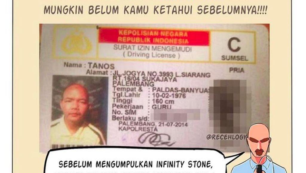 Wah, Musuh Avengers Pernah Buat SIM C di Palembang?
