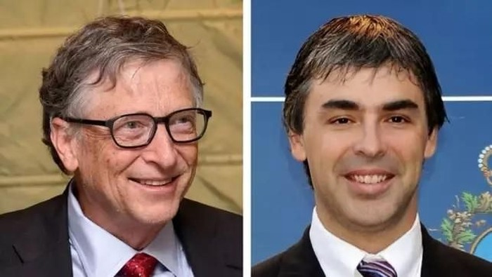 Bill Gates dan Larry Page. Foto: Indiatimes