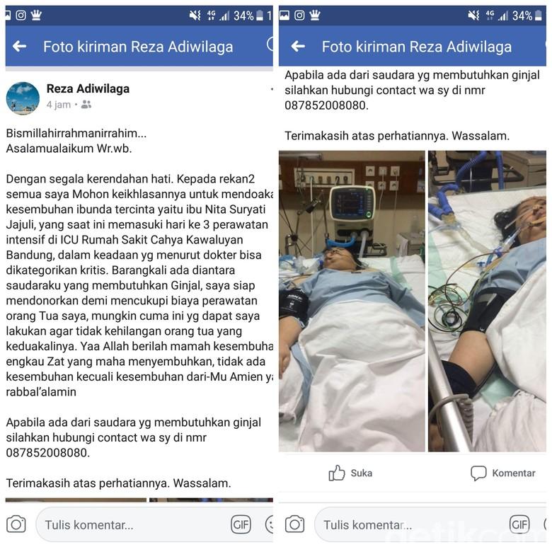 Nelangsa Anak Eks Wabup Sukabumi dan Niat Jual Ginjal Demi Ibu