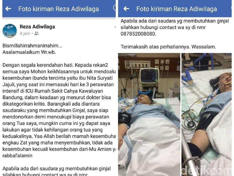 Ibu Sakit, Anak Mantan Wakil Bupati Sukabumi Berniat Jual Ginjal