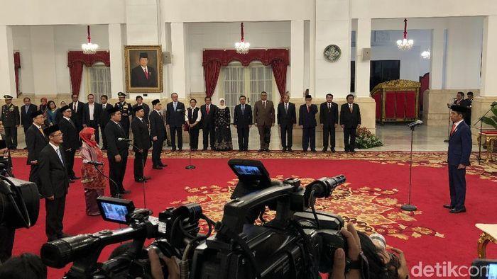 Foto: Jokowi lantik Komisioner KPPU (Jordan-detikcom)