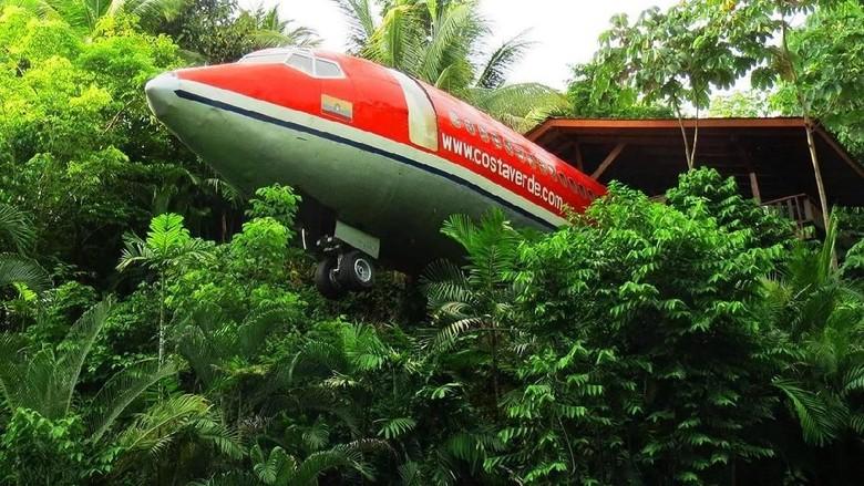 Foto: Penginapan bertema pesawat di Costa Rica (727 Fuslage Home)