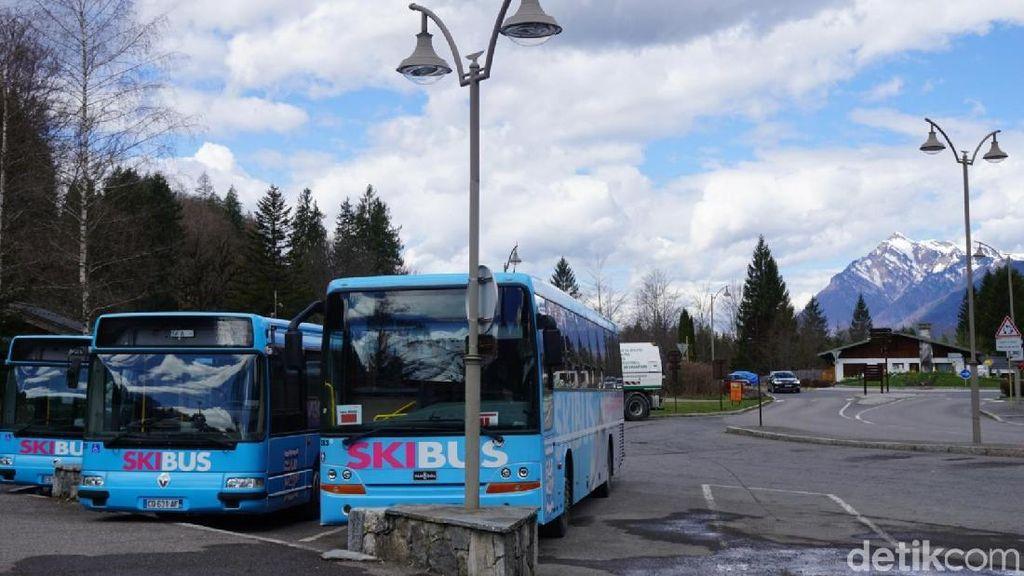 Foto: Bus-bus Gratis Buat Main Ski di Prancis