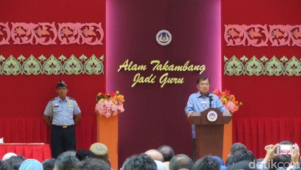 Kunjungan ke Padang, JK Ajak Mahasiswa Jadi Pengusaha