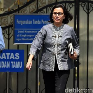 Usai Rapat dengan Jokowi dan Pratikno, Sri Mulyani Bungkam