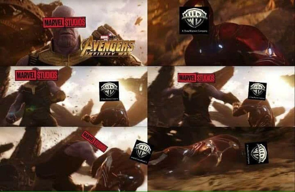 Avengers: Infinity War seakan jadi serangan pamungkas Marvel untuk menghabisi DC. Film ini telah meraup pendapatan raksasa hanya dalam beberapa hari penayangannya.(Foto: Twitter)