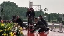 Prajurit TNI Tampilkan Bela Diri di Depan Jokowi-Sultan Brunei