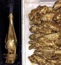 Nyam! Ini Dia Sajian Sayap Ayam Mewah yang Berbalut Emas 24 Karat!