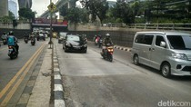 Perbaikan Jalan Dibongkar Ojol, Lalin Casablanca Lancar