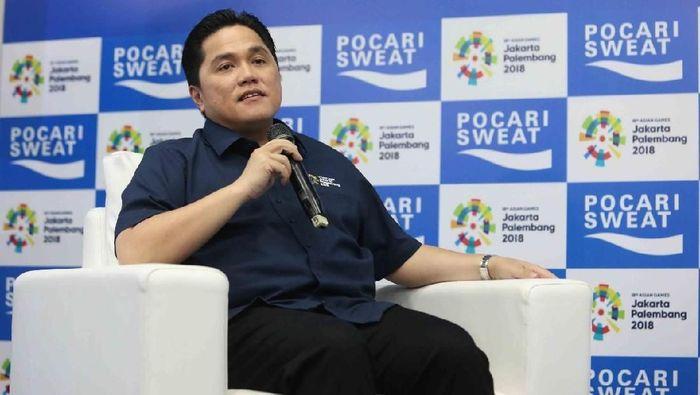 Ketua INASGOC Erick Thohir membahas antisipasi serangan siber di Asian Games 2018 (Foto: Mercy Raya)