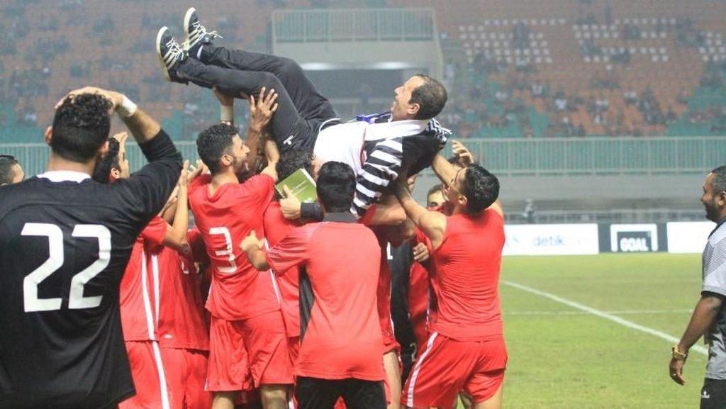 Lampu Stadion Sempat Padam, Bahrain Juara PSSI Anniversary Cup 2018