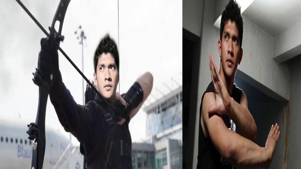 Iko Uwais jadi Hawkeye. Foto: facebook.com/arie.dermawan.7