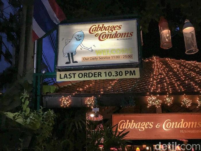 Cabbages and Condoms restoran berkonsep kondom di Bangkok. Foto: Eny Kartikawati/Wolipop