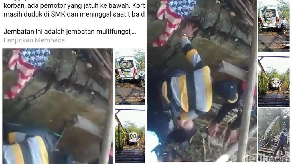 Viral Pelajar Cianjur Tewas di Jembatan, Begini Kata Polisi