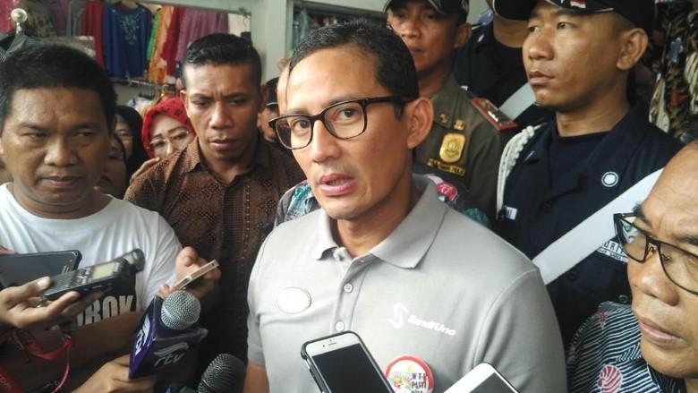 Sandiaga Bantah Ketua Panitia Bagi Sembako Relawan OK OCE