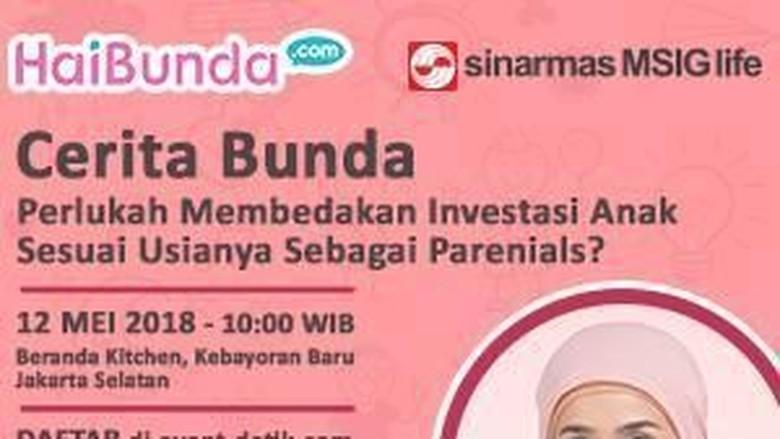 Ngobrolin Investasi buat Anak Bareng Pakarnya Yuk, Bun/ Foto: dok HaiBunda