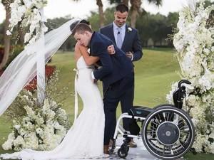 Momen Haru Pria yang Hampir 8 Tahun Lumpuh Bisa Jalan di Pernikahannya