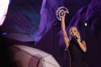 Rita Ora tampil energik di SHVR Ground Festival 2018