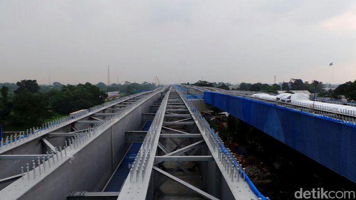 Begini penampakan terkini proyek pengerjaan Jalan Tol Jakarta-Cikampek (Japek) II Elevated.