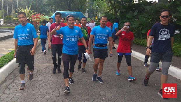 Lari menjadi salah satu olahraga kegemaran Sandiaga Uno.