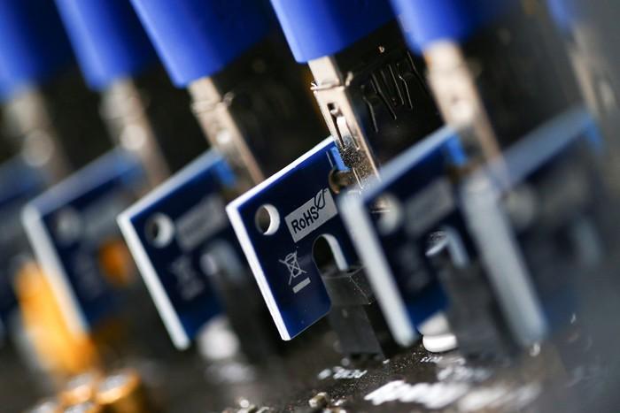 Ilustrasi mesin penambang Bitcoin. Foto: Reuters
