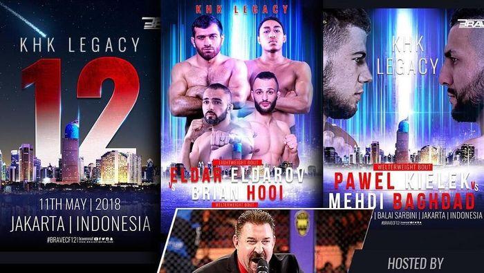 Brave meramaikan ajang MMA di Indonesia dengan menggelar pertarungan di Balai Sarbini (Instagram @bravemmaf)