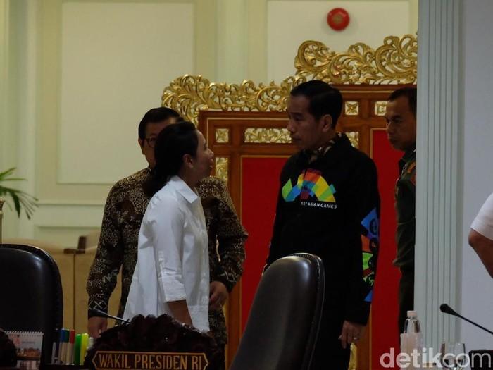 Jaket Asian Games Jokowi. Foto: Andhika Prasetia/detikcom