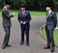 Presiden Jokowi, bersama Sultan Brunei dan anaknya Pangeran Mateen di Bogor tahun lalu.