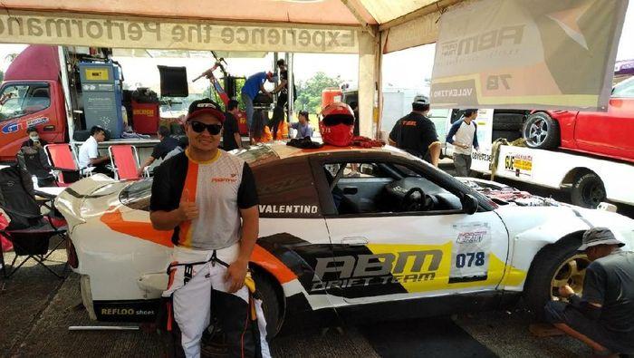 Dritfter ABM Valentino Ratulangi saat sesi latihan (dok.ABM Motorsport)